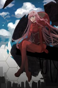 Rating: Safe Score: 21 Tags: bodysuit darling_in_the_franxx horns tagme zero_two_(darling_in_the_franxx) User: Spidey
