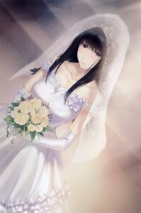 Rating: Safe Score: 29 Tags: dress kara_no_shoujo kuchiki_touko sugina_miki wedding_dress User: Hatsukoi