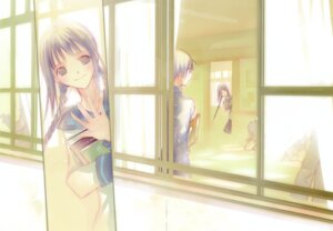 Rating: Safe Score: 8 Tags: amano_tooko bungaku_shoujo fixme inoue_konoha seifuku takeoka_miho User: petopeto