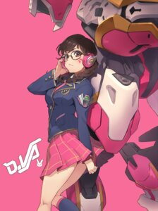 Rating: Safe Score: 30 Tags: d.va eito_nishikawa headphones mecha megane overwatch seifuku User: Mr_GT