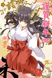 Rating: Safe Score: 28 Tags: animal_ears horns miko noritama_(gozen) User: fairyren