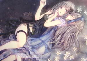 Rating: Questionable Score: 106 Tags: ass garter lingerie missile228 pantsu see_through thong yuri User: BattlequeenYume