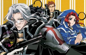 Rating: Safe Score: 2 Tags: abel_nightroad armor esther_blanchett gun megane nakajima_atsuko nun tres_iqus trinity_blood User: Radioactive