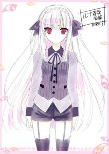 Rating: Safe Score: 25 Tags: sakurakouji_luna stockings suzuhira_hiro thighhighs tsuki_ni_yorisou_otome_no_sahou User: Hatsukoi