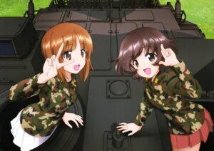 Rating: Safe Score: 27 Tags: akiyama_yukari girls_und_panzer itou_takeshi nishizumi_miho uniform User: drop