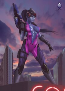 Rating: Safe Score: 9 Tags: bandages bodysuit cleavage gun no_bra overwatch possible_duplicate tagme tattoo widowmaker User: reaver80808