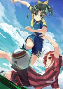 Rating: Safe Score: 36 Tags: aoki_reika futago_monad hino_akane hoshizora_miyuki kise_yayoi midorikawa_nao pretty_cure smile_precure! soccer User: Kaixa