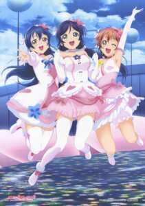 Rating: Safe Score: 62 Tags: dress heels hoshizora_rin love_live! sonoda_umi thighhighs toujou_nozomi User: DDD