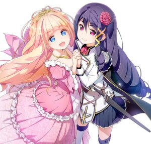 Rating: Safe Score: 16 Tags: dress sword symmetrical_docking tagme uniform watashi_nouryoku_wa_heikinchi_de_tte_itta_yo_ne! yuri User: kiyoe