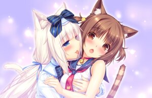 Rating: Safe Score: 76 Tags: animal_ears azuki_(neko_para) breast_hold game_cg neko_para neko_works nekomimi sayori seifuku tail vanilla yuri User: RyuZU