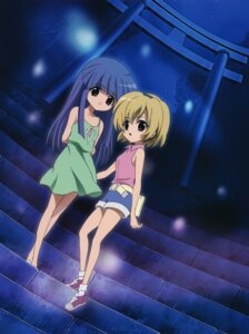 Rating: Safe Score: 19 Tags: dress furude_rika higurashi_no_naku_koro_ni houjou_satoko sakai_kyuuta summer_dress User: Radioactive