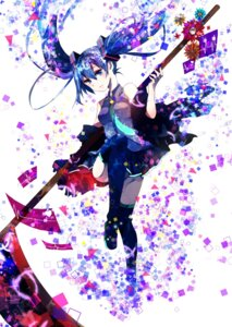 Rating: Safe Score: 30 Tags: hatsune_miku hoshino_kisora vocaloid weapon User: mahoru