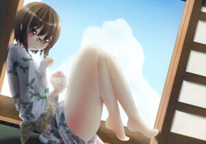 Rating: Safe Score: 34 Tags: feet megane nekobaka yukata User: hamasen205