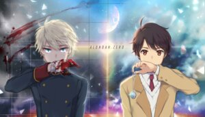 Rating: Safe Score: 9 Tags: aldnoah.zero bittersweet blood kaizuka_inaho male seifuku slaine_troyard uniform User: charunetra