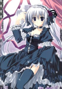 Rating: Safe Score: 32 Tags: dress gothic_lolita korie_riko lolita_fashion skirt_lift stockings thighhighs User: fireattack