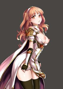 Rating: Questionable Score: 65 Tags: breasts celica_(fire_emblem) fire_emblem fire_emblem_echoes kaori_hero nipples no_bra open_shirt pantsu panty_pull pubic_hair thighhighs undressing User: WarrFork