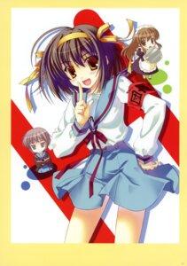 Rating: Safe Score: 16 Tags: asahina_mikuru chibi maid nagato_yuki nanao_naru seifuku suzumiya_haruhi suzumiya_haruhi_no_yuuutsu User: crim