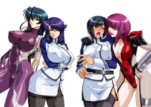 Rating: Questionable Score: 60 Tags: armor bodysuit cleavage crossover erect_nipples fishnets igawa_asagi kagami kangoku_senkan lilith_soft naomi_evans ninja oboro_(taimanin_asagi) rieri_bishop stockings taimanin_asagi thighhighs uniform User: limalama