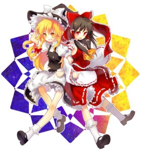 Rating: Safe Score: 11 Tags: hakurei_reimu kirisame_marisa miko renta touhou witch User: charunetra
