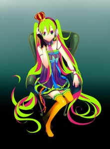 Rating: Safe Score: 16 Tags: hatsune_miku temari_(artist) thighhighs vocaloid User: mahoru