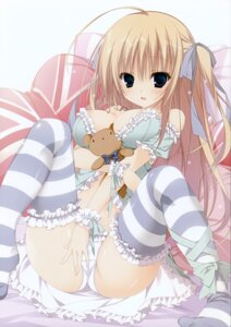Rating: Questionable Score: 79 Tags: areola cameltoe cleavage inugami_kira lingerie pantsu thighhighs User: Hatsukoi