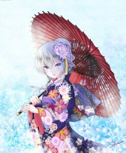 Rating: Safe Score: 51 Tags: kantai_collection kashima_(kancolle) kimono shino_(shinderera) umbrella User: Mr_GT