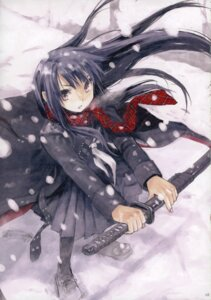 Rating: Safe Score: 31 Tags: closet_child konoe_ototsugu pantyhose seifuku sword User: Aurelia