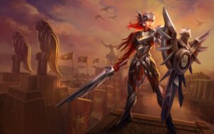 Rating: Questionable Score: 4 Tags: armor heels league_of_legends sword tagme User: Radioactive