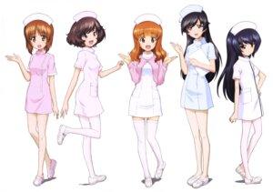 Rating: Questionable Score: 21 Tags: akiyama_yukari girls_und_panzer isuzu_hana nishizumi_miho nurse pantyhose reizei_mako takebe_saori thighhighs User: drop