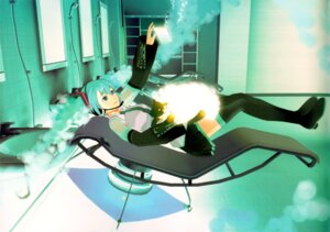 Rating: Safe Score: 12 Tags: 119 binding_discoloration hatsune_miku thighhighs vocaloid User: withul