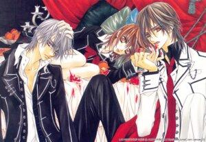 Rating: Safe Score: 5 Tags: cross_yuuki hino_matsuri kiryuu_zero kuran_kaname screening vampire_knight User: charunetra