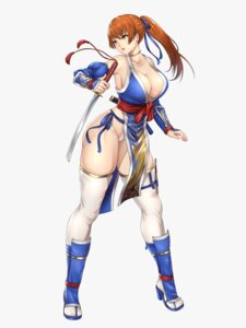 Rating: Questionable Score: 9 Tags: cleavage dead_or_alive garter heels japanese_clothes kasumi kurone_rinka no_bra open_shirt pantsu sword thighhighs User: mash
