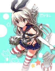 Rating: Safe Score: 41 Tags: gun kantai_collection maruche pantsu rensouhou-chan shimakaze_(kancolle) thighhighs User: 23yAyuMe