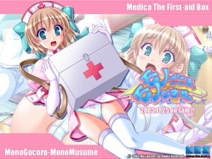 Rating: Questionable Score: 10 Tags: akaza dress may-be_soft medica monogocoro_monomusume nurse pantsu thighhighs wallpaper User: maurospider
