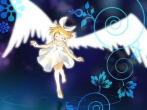 Rating: Safe Score: 11 Tags: junji kagamine_rin vocaloid wallpaper wings User: charunetra