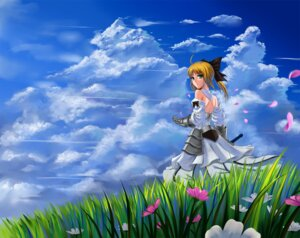 Rating: Safe Score: 17 Tags: armor dress fate/stay_night saber saber_lily sword windtalker User: Radioactive