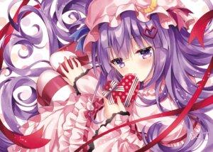 Rating: Safe Score: 43 Tags: dress nogi_takayoshi pantyhose patchouli_knowledge touhou valentine User: sym455