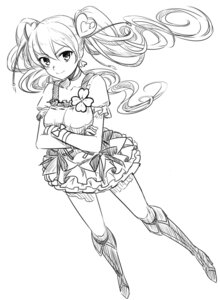Rating: Safe Score: 15 Tags: fresh_pretty_cure! minazuki_randoseru momozono_love monochrome pretty_cure sketch User: blooregardo