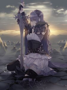 Rating: Safe Score: 20 Tags: armor kancell sword thighhighs User: AnoCold