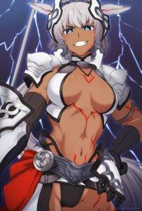 Rating: Questionable Score: 21 Tags: animal_ears armor bikini_armor caenis_(fate/grand_order) cameltoe fate/grand_order haruka_(yakitoritabetai) tattoo User: Genex