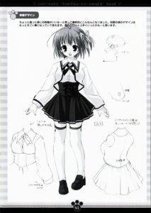 Rating: Safe Score: 4 Tags: character_design kawahara_touka konneko marmalade mikeou monochrome seifuku thighhighs User: noirblack