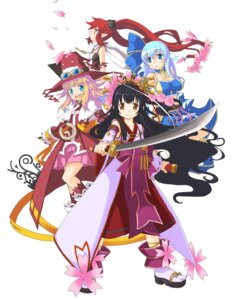 Rating: Safe Score: 10 Tags: aqua_seep_seal kanatarou. miko pril_patowle sakurako_kujo sword trouble_witches_neo! yuuki_longate User: Radioactive