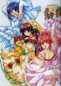 Rating: Safe Score: 25 Tags: alpha binding_discoloration cleavage dress hinata_natsumi oone_touka sharin_no_kuni_himawari_no_shoujo wedding_dress User: admin2