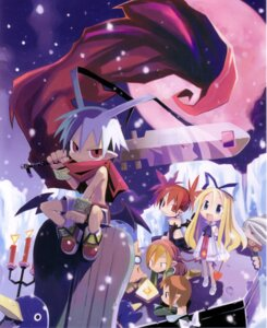 Rating: Safe Score: 9 Tags: disgaea etna flonne harada_takehito laharl midboss pointy_ears prinny sword User: WD-40