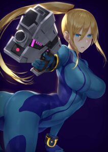 Rating: Safe Score: 26 Tags: akitaka_akita ass bodysuit gun metroid samus_aran User: mash