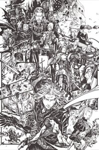 Rating: Safe Score: 8 Tags: castlevania castlevania:_curse_of_darkness crease dracula hector isaac julia_laforeze kojima_ayami konami monochrome richter_belmont saint_germain sword the_end trevor_belmont weapon zead User: Radioactive