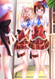 Rating: Safe Score: 65 Tags: ayase_arisa garter kousaka_yukiho love_live! swordsouls uniform User: SubaruSumeragi