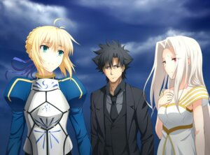Rating: Safe Score: 23 Tags: emiya_kiritsugu fate/stay_night fate/zero irisviel_von_einzbern iyakun saber User: shizukane