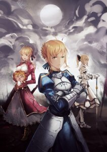 Rating: Safe Score: 17 Tags: a3 armor fate/stay_night saber saber_extra saber_lily saber_lion User: Radioactive