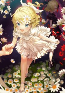 Rating: Safe Score: 44 Tags: dress heels kagamine_rin sawashi_(ur-sawasi) skirt_lift vocaloid User: Mr_GT